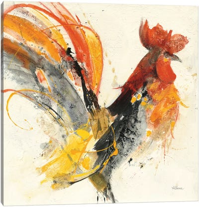 Festive Rooster I Canvas Art Print