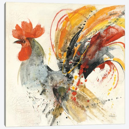 Festive Rooster II Canvas Print #WAC9436} by Albena Hristova Canvas Artwork