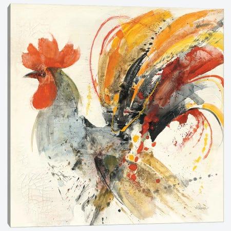 Festive Rooster II Canvas Print #WAC9436} by Albena Hristova Canvas Artwork