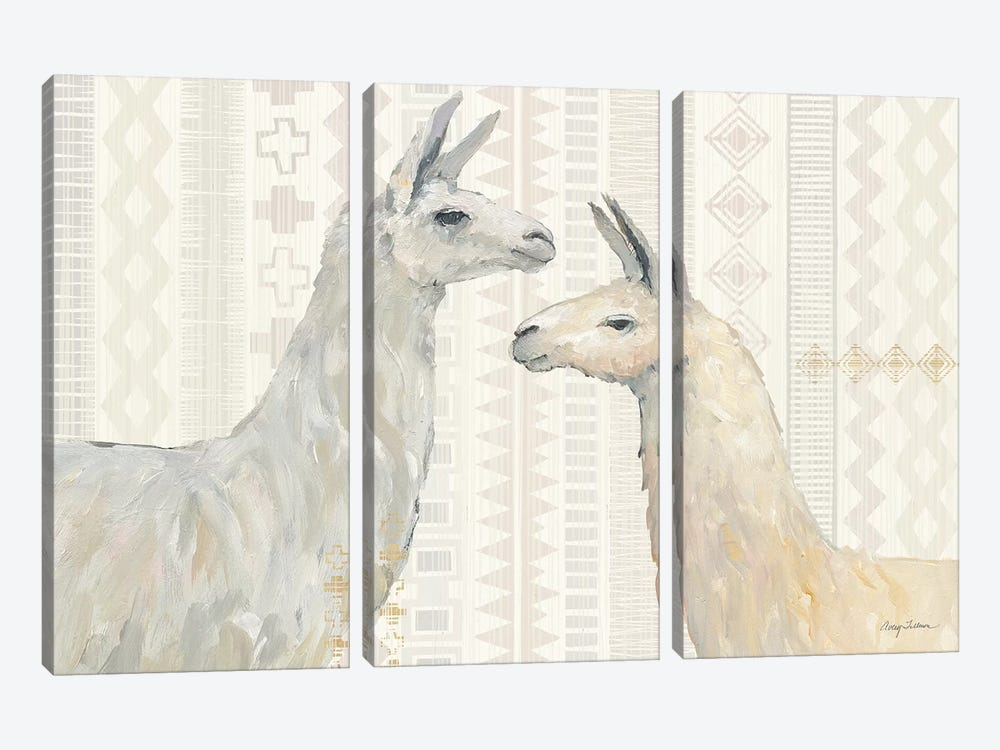 Llama Land I by Avery Tillmon 3-piece Canvas Wall Art