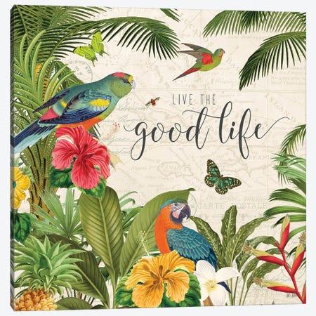 Parrot Paradise IV Canvas Print #WAC9460} by Katie Pertiet Canvas Artwork