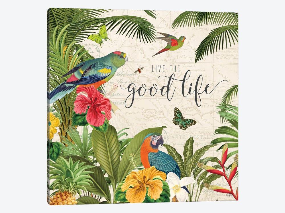 Parrot Paradise IV by Katie Pertiet 1-piece Canvas Wall Art