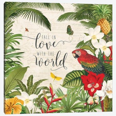 Parrot Paradise V Canvas Print #WAC9461} by Katie Pertiet Canvas Artwork