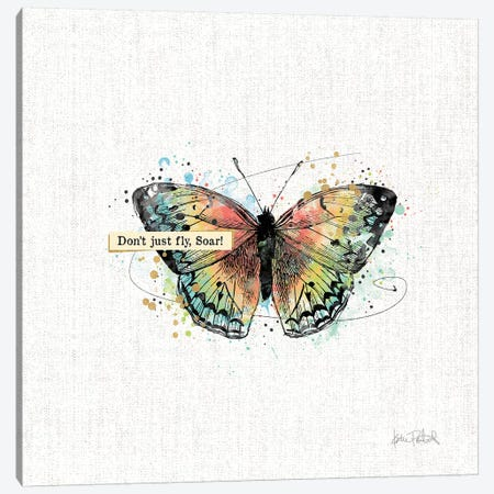 Thoughtful Butterflies I Canvas Print #WAC9462} by Katie Pertiet Canvas Art