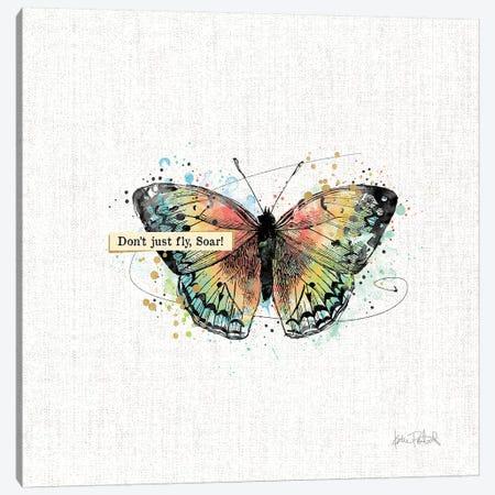 Thoughtful Butterflies I Canvas Print #WAC9462} by Katie Pertiet Canvas Art