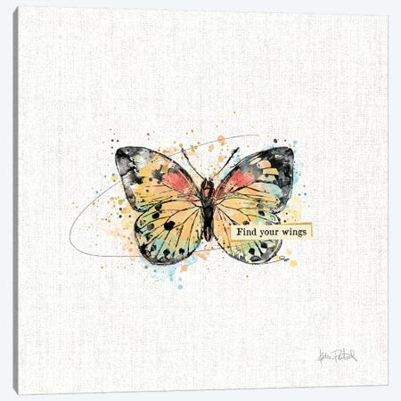 Thoughtful Butterflies II Canvas Print #WAC9463} by Katie Pertiet Canvas Artwork