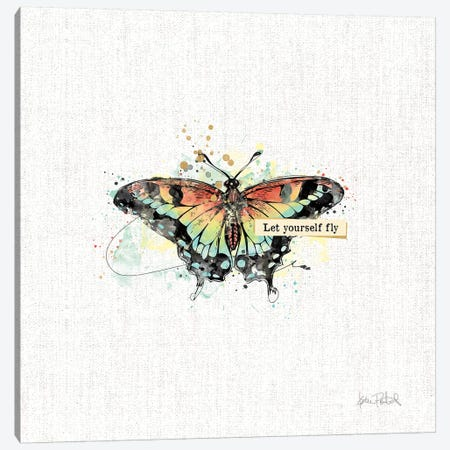 Thoughtful Butterflies IV Canvas Print #WAC9465} by Katie Pertiet Canvas Art Print