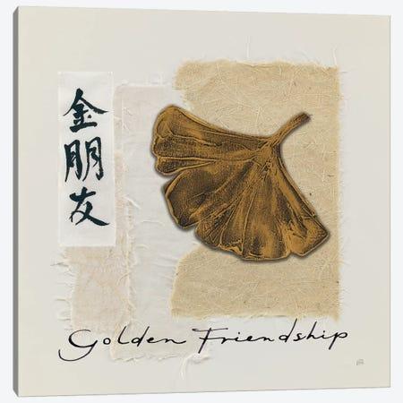 Bronze Leaf I Golden Friendship Canvas Print #WAC9469} by Chris Paschke Canvas Artwork
