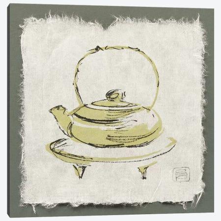 Green Teapot Canvas Print #WAC9475} by Chris Paschke Canvas Wall Art