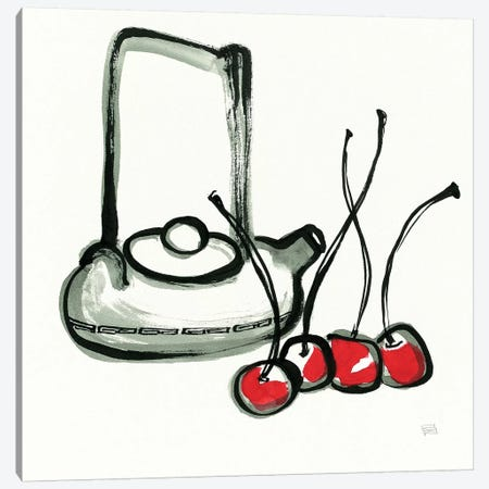 Tea and Cherries Canvas Print #WAC9476} by Chris Paschke Canvas Wall Art