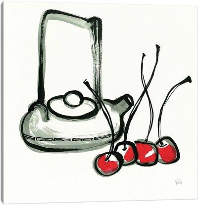 Tea and Cherries Canvas Art Print