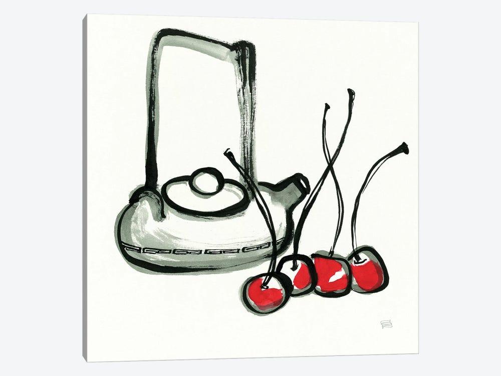 Tea and Cherries by Chris Paschke 1-piece Art Print