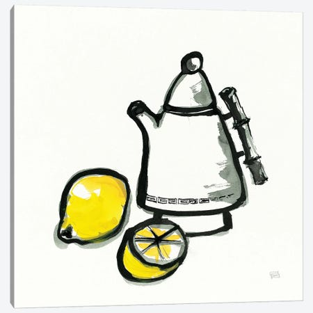 Tea and Lemons Canvas Print #WAC9477} by Chris Paschke Canvas Wall Art