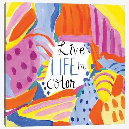 Abstract Affirmations III Canvas Print #WAC9484} by Farida Zaman Canvas Art Print