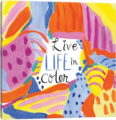 Abstract Affirmations III Canvas Art Print