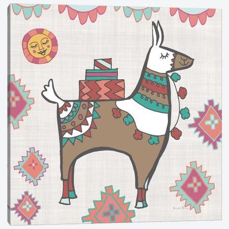 Playful Llamas I Canvas Print #WAC9487} by Farida Zaman Canvas Print