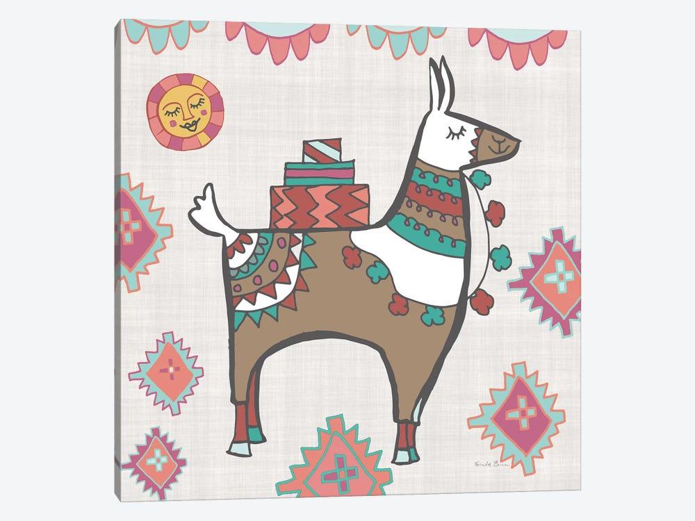 Playful Llamas I by Farida Zaman 1-piece Canvas Print