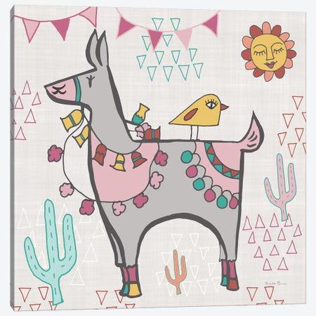 Playful Llamas II Canvas Print #WAC9488} by Farida Zaman Canvas Artwork