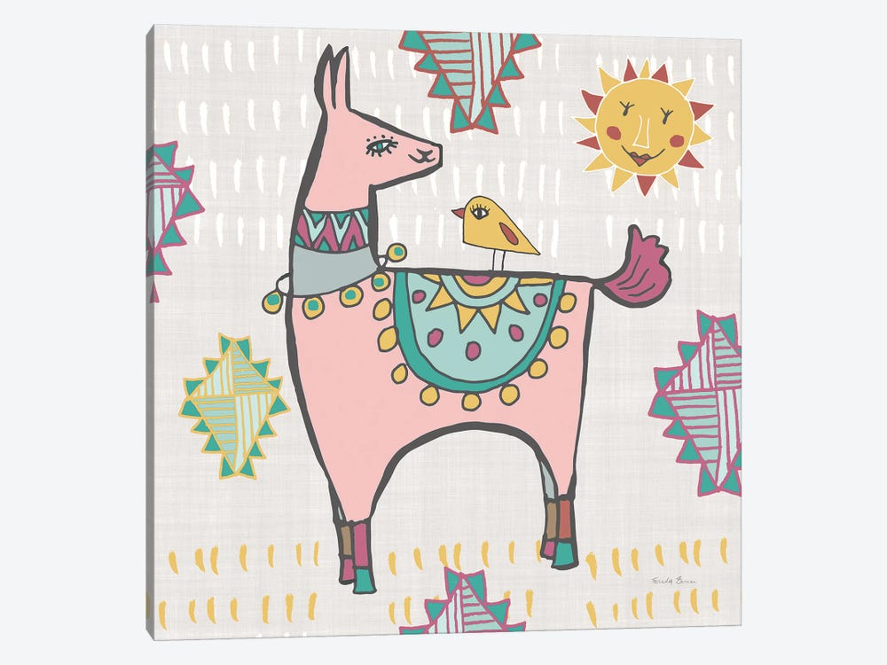 Playful Llamas III 1-piece Art Print