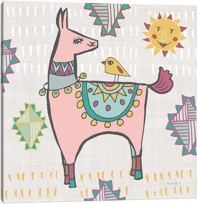 Playful Llamas III Canvas Art Print