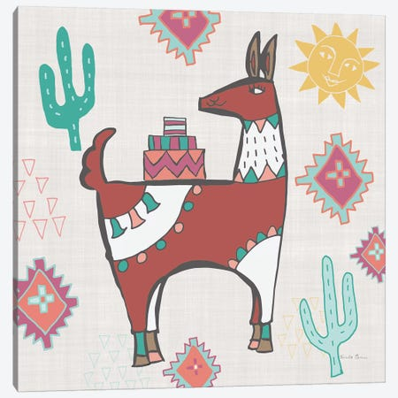 Playful Llamas IV Canvas Print #WAC9490} by Farida Zaman Canvas Print