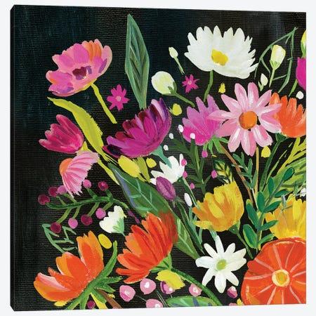 Vintage Floral I Canvas Print #WAC9491} by Farida Zaman Art Print