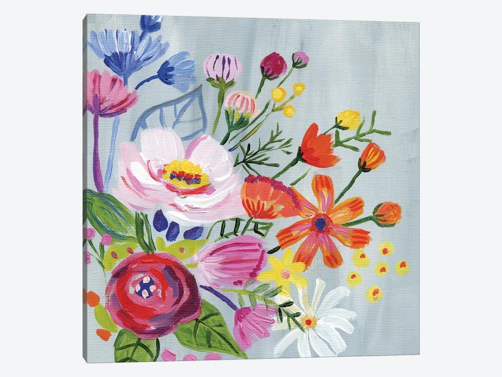 Vintage Floral II by Farida Zaman 1-piece Canvas Art Print