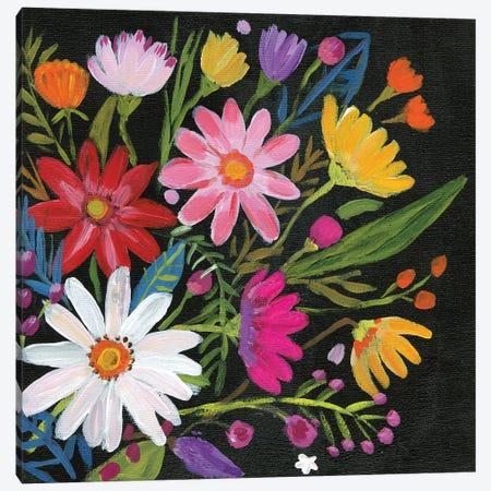 Vintage Floral III Canvas Print #WAC9493} by Farida Zaman Canvas Print