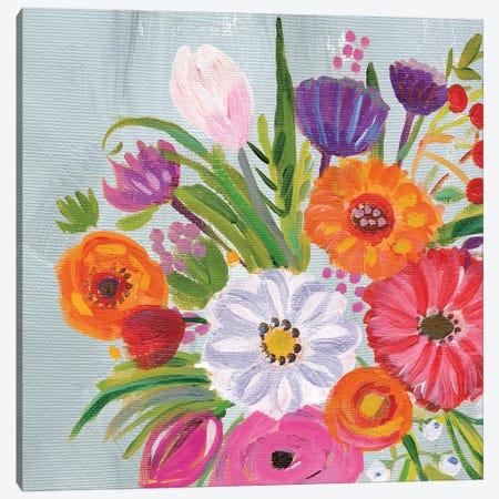 Vintage Floral IV Canvas Print #WAC9494} by Farida Zaman Canvas Artwork