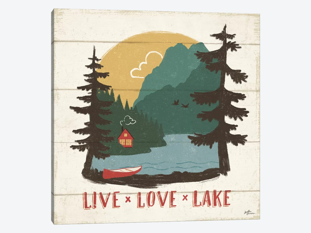 Vintage Lake VII 1-piece Canvas Wall Art