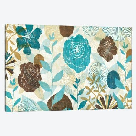 Floral Burst Canvas Print #WAC952} by Michael Mullan Canvas Artwork