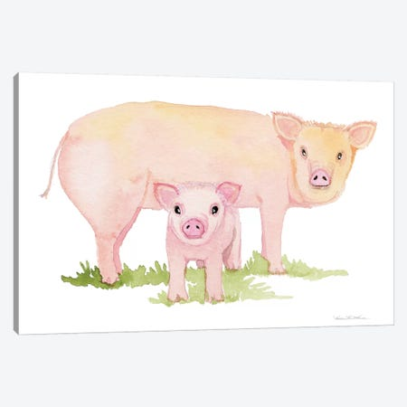 Life on the Farm: Animal Element IV Canvas Print #WAC9533} by Kathleen Parr McKenna Canvas Wall Art