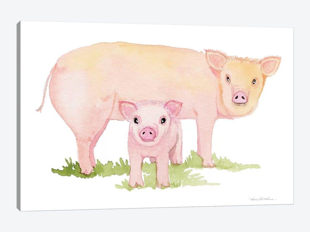 Life on the Farm: Animal Element IV by Kathleen Parr McKenna 1-piece Canvas Art Print