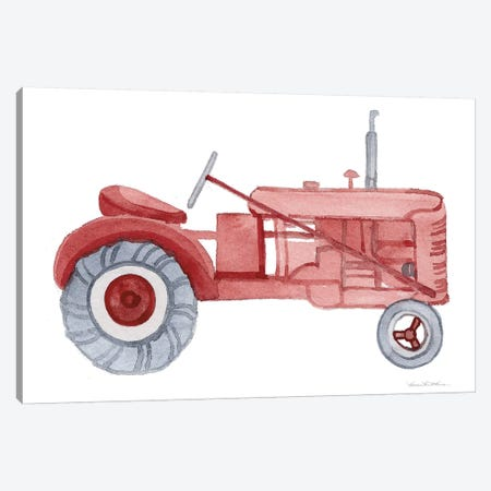 Life on the Farm: Tractor Element Canvas Print #WAC9537} by Kathleen Parr McKenna Canvas Print