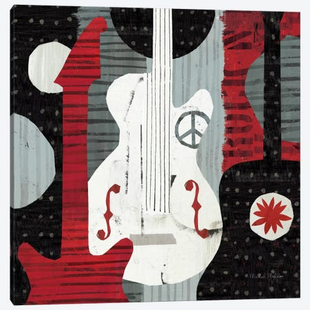 Rock 'n Roll Guitars Canvas Print #WAC953} by Michael Mullan Canvas Artwork