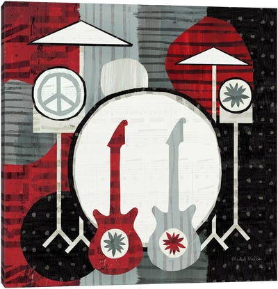 Rock 'n Roll Drums Canvas Print #WAC954