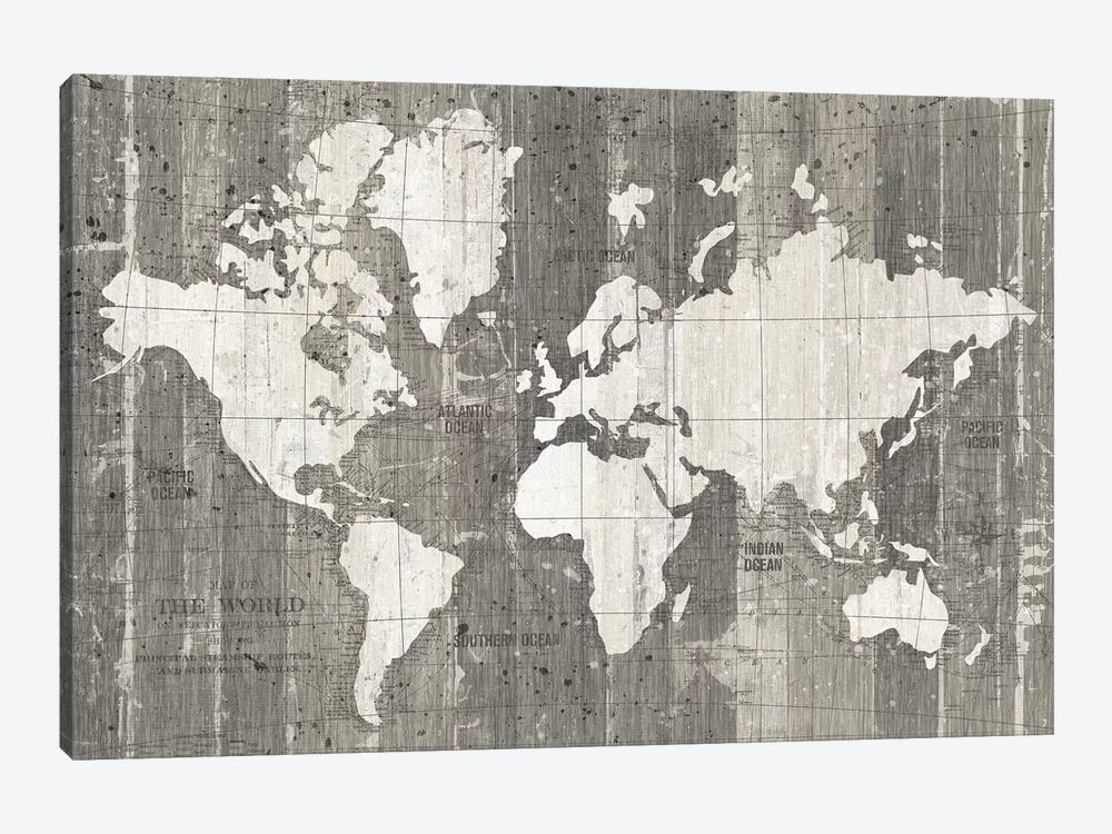 Old World Map 1-piece Canvas Art Print