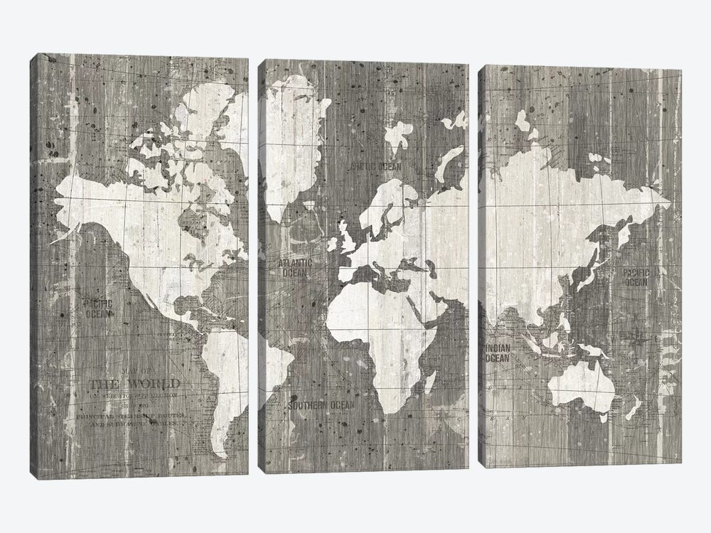 Old World Map by Wild Apple Portfolio 3-piece Art Print