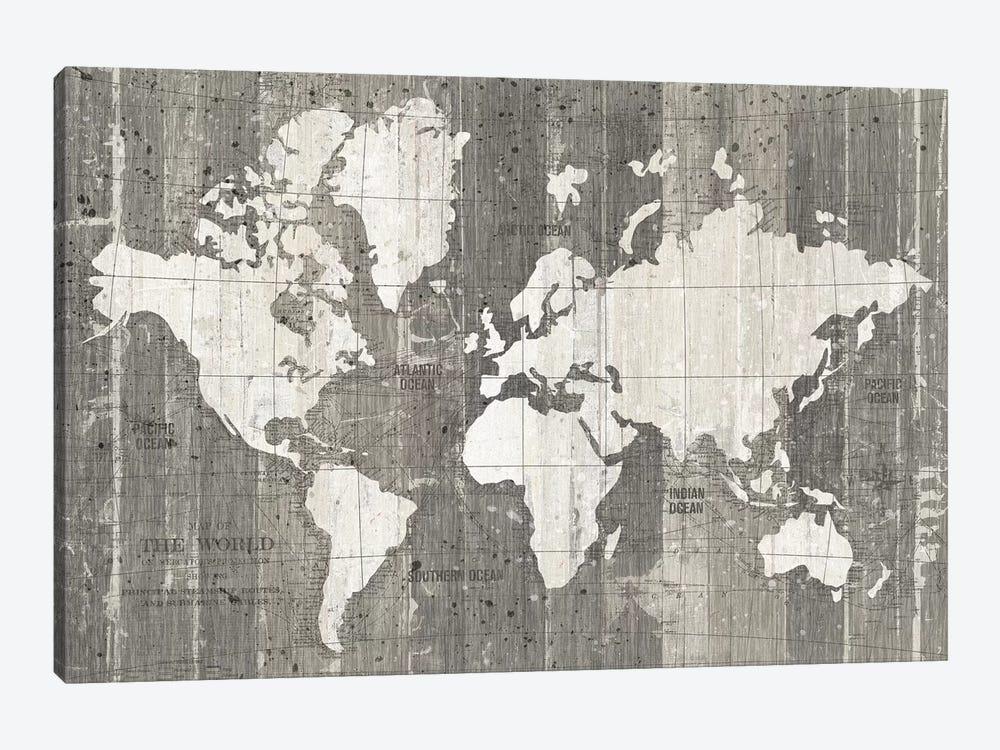 Old World Map by Wild Apple Portfolio 1-piece Canvas Art Print