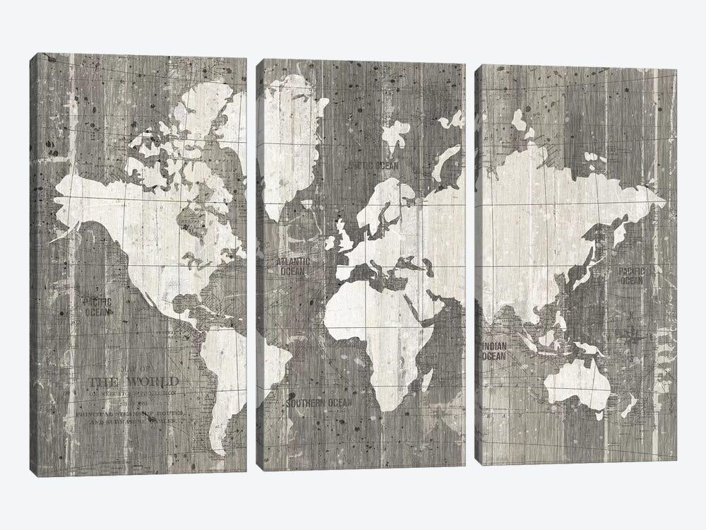 Old World Map by Wild Apple Portfolio 3-piece Art Print