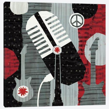 Rock 'n Roll Mic Canvas Print #WAC955} by Michael Mullan Canvas Print