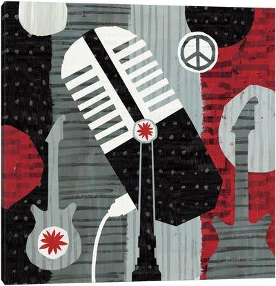 Rock 'n Roll Mic Canvas Art Print
