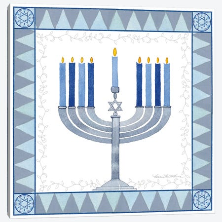 Celebrating Hanukkah III Canvas Print #WAC9563} by Kathleen Parr McKenna Canvas Print