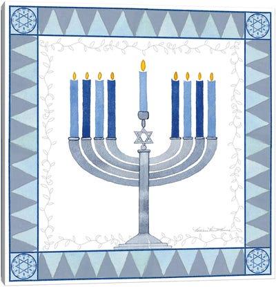 Celebrating Hanukkah III Canvas Art Print