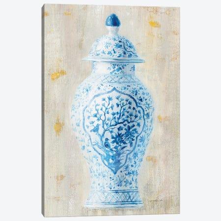 Ginger Jar I Light Crop Canvas Print #WAC9567} by Wild Apple Portfolio Canvas Art