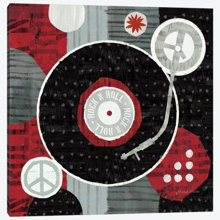 Rock 'n Roll Album Canvas Print #WAC956} by Michael Mullan Canvas Print
