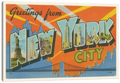 Greetings from New York Canvas Art Print