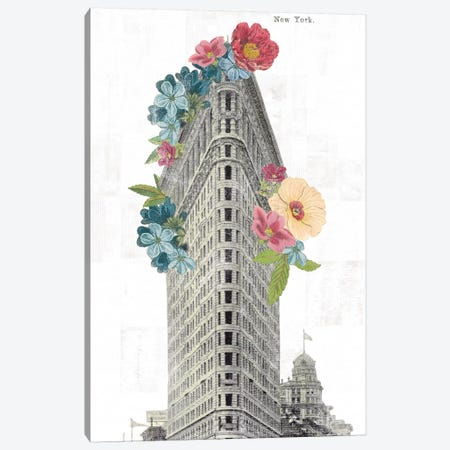 Floral Flat Iron Canvas Print #WAC9578} by Wild Apple Portfolio Canvas Wall Art