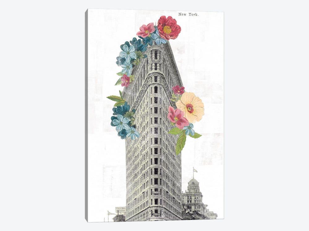 Floral Flat Iron by Wild Apple Portfolio 1-piece Canvas Art