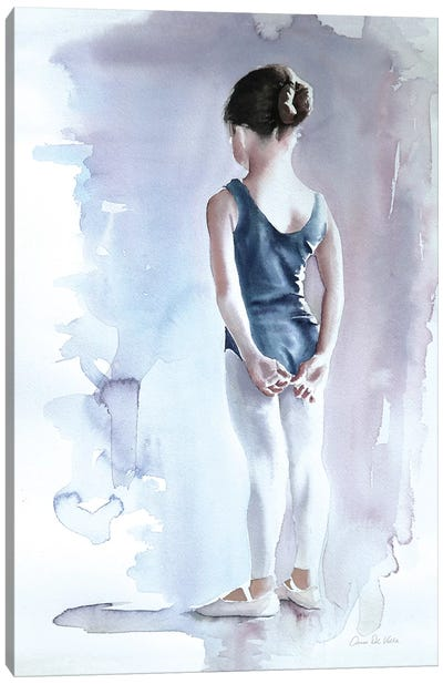 First Day at Ballet Canvas Art Print
